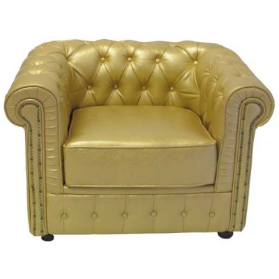 FUR100G Chesterfield Chair Gold